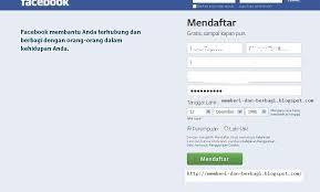 membuat facebook yg baru cara mudah membuat fb atau daftar facebook ter baru trik fb terbaru