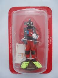 firefighter figurines prado lead soldier figure fireman diver surface non free