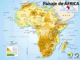 mapa de africa áfrica paisaje relieve ríos y lagos clima y vegetación mapa