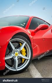 red ferrari tianjin china feb 27 2016 closeup stock photo 506920039 shutterstock