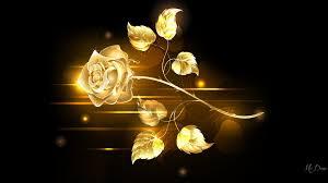 Gold Rose Flowers Golden Rose Flowers Jewel Shine Gold Glow Floral Lights