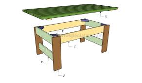 Build Wooden Patio Table by How To Build An Outdoor Table Home Design Ideas And Pictures