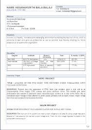 Electrical Engineer Fresher Resume Sample Electrical Engineering Resume Format For Freshers Resume Format