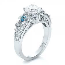 blue engagement rings custom organic and blue topaz engagement ring 100600