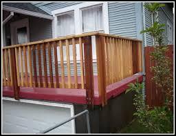 installing deck railing posts decks home decorating ideas