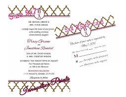 Wedding Invitation Rsvp Cards Moroccan Lattice Wedding Invitation U0026 Rsvp Card Please Click On