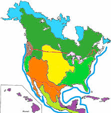 biomes map color the biomes of america