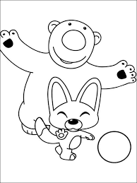 pororo the little penguin coloring pages free printable pororo