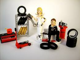 car wedding cake toppers wedding cake topper mechanics auto mechanic tires