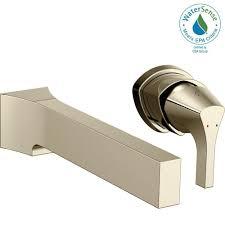 delta zura single handle wall mount bathroom faucet trim kit in