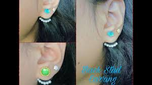 back stud earrings how to make back stud earring ear cuff at home tutorial
