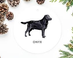 black lab ornament doliquid