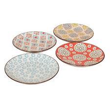 bohemian dinnerware set of four small plates www highcamphome com
