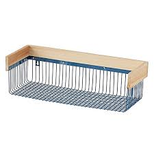 Bathroom Wire Rack Wood And Wire Shelf The Land Of Nod