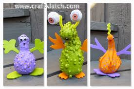 craft klatch gourd aliens halloween craft tutorial