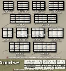 Standard Curtain Sizes Chart by Garage Door Affordable Car Dimensions Design Standard
