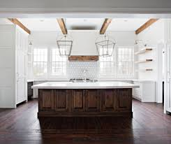 stained kitchen cabinets with hardwood floors reclaimed milled tobacco peachey