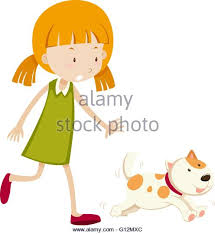child drawing walking with dog stock photos u0026 child drawing