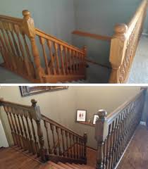 stripped u0026 refinished staircase before u0026 after general finishes