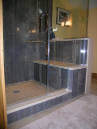 Black Bathroom With Walk In Shower Image Of V Walk In Recess - Bathroom designs with walk in shower