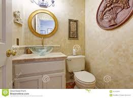 Bathroom Vanity Cabinet With Glass Vessel Sink Stock Photo Image - Bathroom vanity cabinet for vessel sink