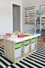Diy Craft Desk With Storage by An Ikea Hack Train U0026 Activity Table The Crazy Craft Lady