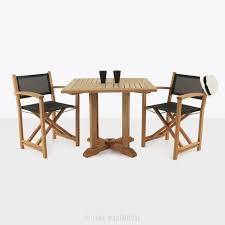 Square Pedestal Table Teak Square Pedestal Table U0026 Cannes Directors Chairs Teak Warehouse