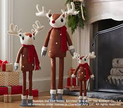 rudolph the nosed reindeer hearth plush decor pottery barn