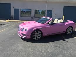 bentley car pink bentley u2013 breast cancer awareness u2013 custom color change car