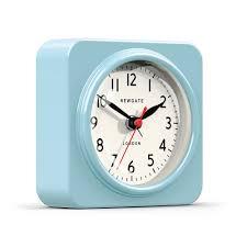 Funky Wall Clocks The Biscuit Alarm Clock In Blue Wall Clocks Cuckooland