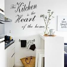 stickers muraux cuisine citation la cuisine est le cœur de la maison citations sticker mural amovible