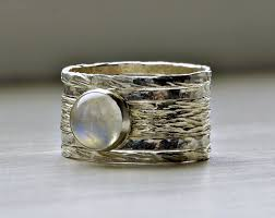 stackable birthstone ring unique rustic stackable moonstone wedding ring stackable