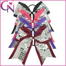 hair ribbons cheer hair bow pony 8 3 inch ribbon cheerleading