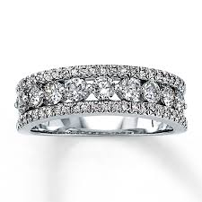 jared jewelers jared diamond anniversary ring 1 ct tw round cut 14k white gold