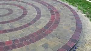 Circular Patios by Circular Patio Using Belgard Pavers Kit Youtube