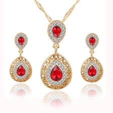 fashion necklace earring sets images 17km women bridal wedding jewelry set charm crystal water drop jpg