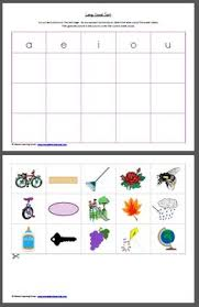short and long vowel activities picture cards worksheets