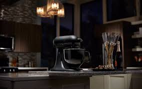 black tie stand mixer all black kitchenaid mixer popsugar food