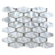 chenx 12 20 in x 14 96 in x 8 mm aluminum metal glass backsplash