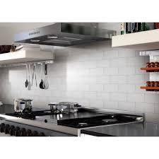 Stick On Kitchen Backsplash 100 Pieces Peel U0026 Stick Aluminum Brushed Backsplash Tiles 3