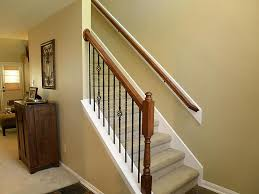 Spindle Staircase Ideas Stair Foxy Home Interior Using Wooden Half Turn Staircase Along
