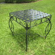 Patio Side Table International Caravan Mandalay Iron Patio Side Table Walmart Com