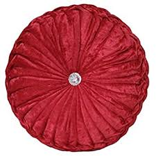 amazon com creative co op honey or gray round velvet pillow gray