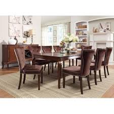 acme united kingston collection brown cherry finish formal 9pcs
