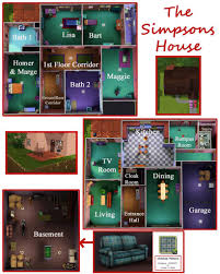 simpsons house floor plan simpsons house floor layoutmpson lee plan the print real plans modms