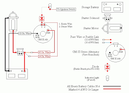 delco alternator wiring diagram delco 3 wire alternator wiring in