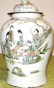 Hand Painted Chinese Vase Antique Big Chinese Porcelain Blue U0026white Vase With Lid Qing