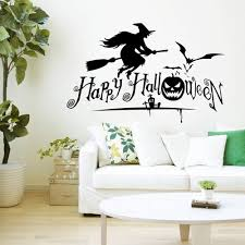 horror home decor free shipping wall sticker newly design flying witch halloween for