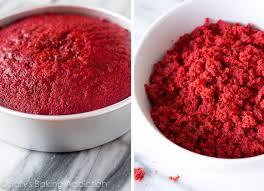 red cake recipe food photos
