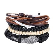 leather bracelet with charm images Boyfriend leather bracelets jpg